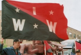 Chicago IWW members at the Haymarket Memorial - May Day 2007
